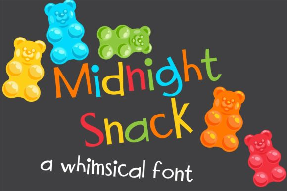 Print on Demand: Midnight Snack Sans Serif Font By Illustration Ink