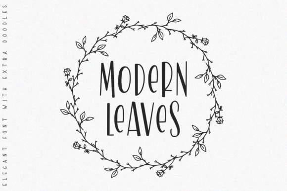 Print on Demand: Modern Leaves Slab Serif Font By Abodaniel