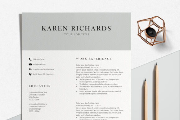 Modern Resume Graphic Print Templates By lukstudiodesign