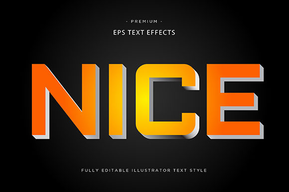 Print on Demand: Nice 3d Text Effect Graphic Graphic Templates By Riduwan Molla