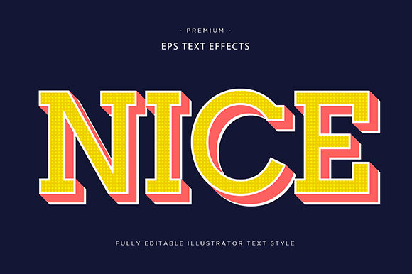 Print on Demand: Nice 3d Text Effect Vector Graphic Graphic Templates By Riduwan Molla