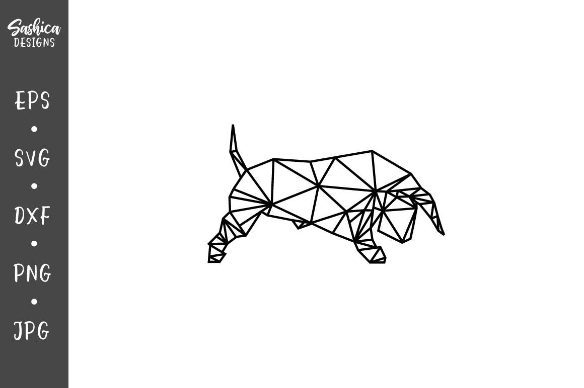 Download Free Origami Bull Vector Svg Graphic By Sashica Designs Creative for Cricut Explore, Silhouette and other cutting machines.