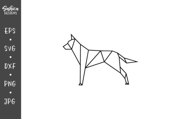 Download Free Origami Dog Vector Svg Graphic By Sashica Designs Creative Fabrica for Cricut Explore, Silhouette and other cutting machines.