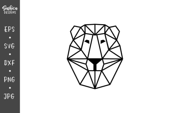 Origami Lion Vector Svg Graphic By Sashica Designs Creative