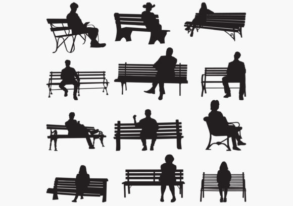 Download Free Park Bench Silhouettes Graphic By Octopusgraphic Creative Fabrica for Cricut Explore, Silhouette and other cutting machines.