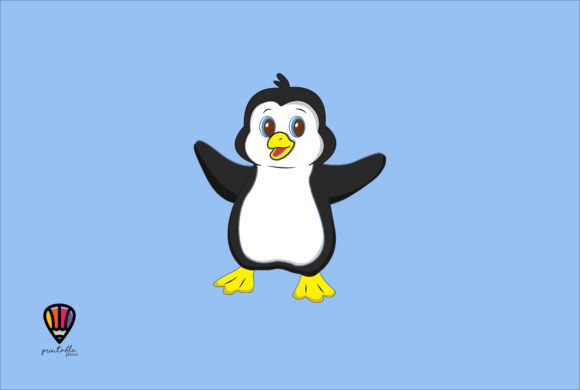 Download Free Penguin Graphic By Printablesplazza Creative Fabrica for Cricut Explore, Silhouette and other cutting machines.