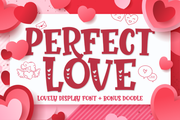 Print on Demand: Perfect Love Display Schriftarten von figuree studio