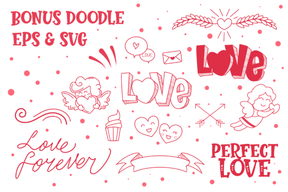 Print on Demand: Perfect Love Display Font By figuree studio - Image 3