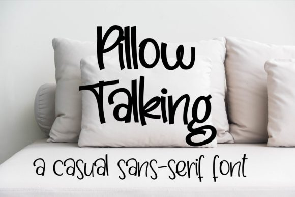 Print on Demand: Pillow Talking Skript & Handgeschrieben Schriftarten von Illustration Ink