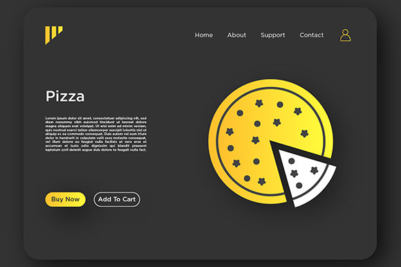 Print on Demand: Pizza Landing Page Graphic Landing Page Templates By Riduwan Molla