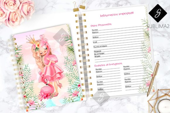 Print on Demand: Printable 2020 Planner, Spanish 2020 Graphic Print Templates By Sublima2