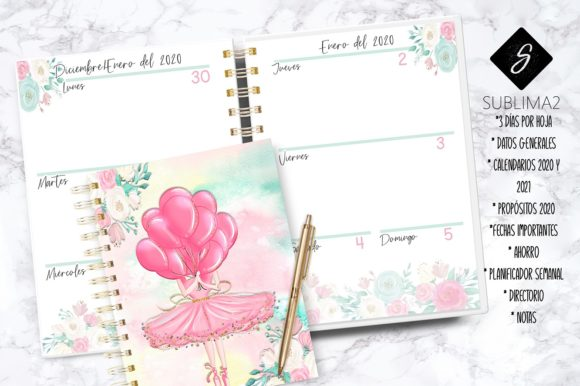 Download Free Printable 2020 Planner Spanish 2020 Graphic By Kenia Porcayo for Cricut Explore, Silhouette and other cutting machines.