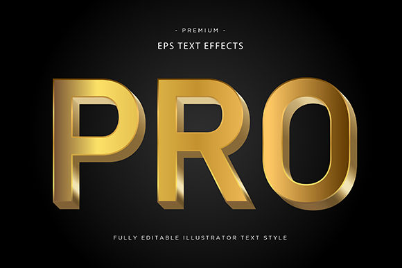 Print on Demand: Pro 3d Text Effect Graphic Graphic Templates By Riduwan Molla