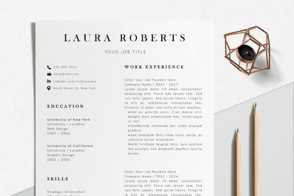 Download Free Modern Resume Template Word Graphic By Lukstudiodesign for Cricut Explore, Silhouette and other cutting machines.