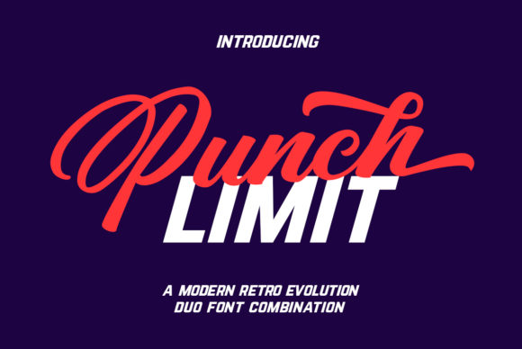 Print on Demand: Punch Limit Duo Script & Handwritten Font By Semar - Image 1