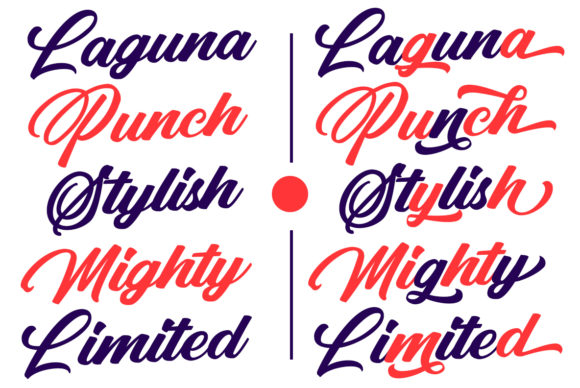 Print on Demand: Punch Limit Duo Script & Handwritten Font By Semar - Image 13