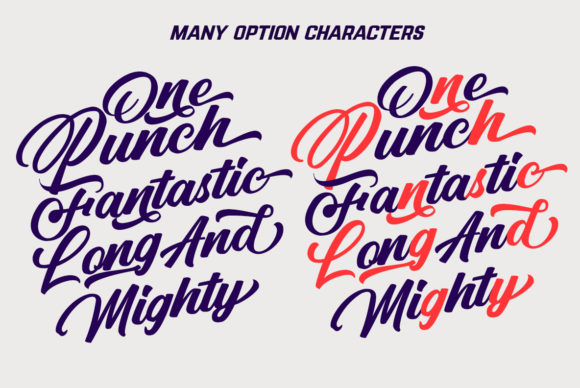Print on Demand: Punch Limit Duo Script & Handwritten Font By Semar - Image 8
