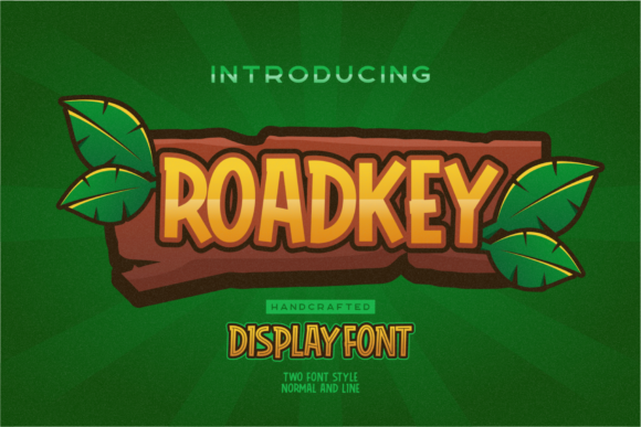 Print on Demand: Roadkey Display Font By Nur Cholis - Image 1