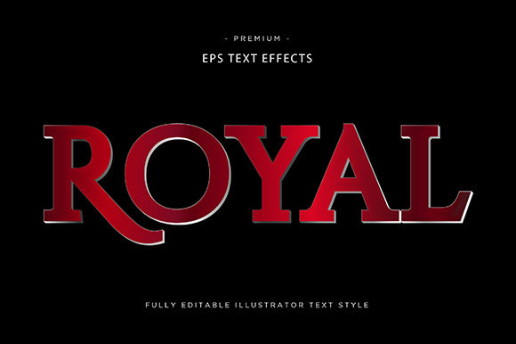 Print on Demand: Royal 3d Text Effect Vector Graphic Graphic Templates By Riduwan Molla