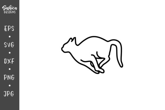 Download Free Running Cat Vector Svg Graphic By Sashica Designs Creative Fabrica for Cricut Explore, Silhouette and other cutting machines.