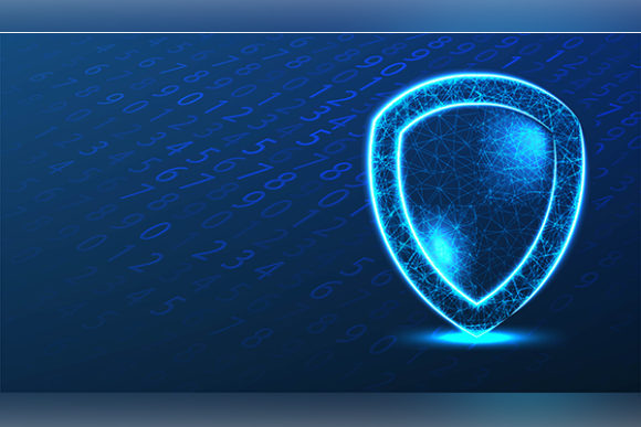Print on Demand: Shield Protection. System Binary Code. C Graphic Backgrounds By ojosujono96