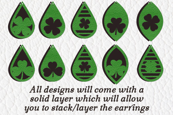 St Patricks Day Earring Graphic By Craft Pixel Perfect