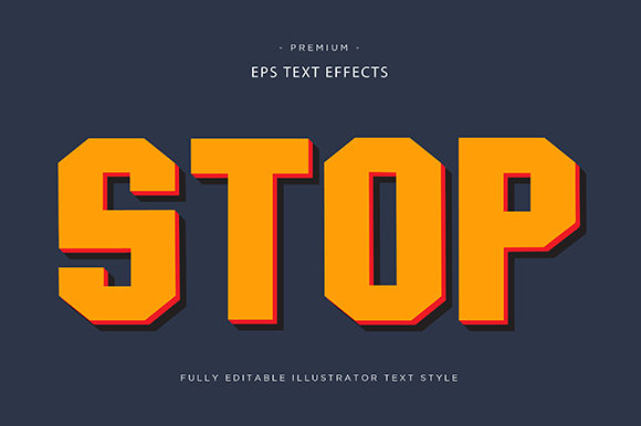 Print on Demand: Stop 3d Text Effect Graphic Graphic Templates By Riduwan Molla