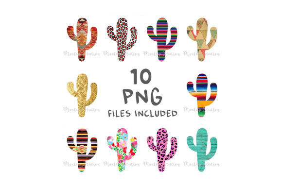 Print on Demand: Sublimation Cactus Design Graphic Objects By Mockup Station - Image 1