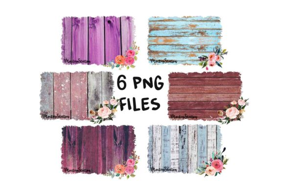 Print on Demand: Sublimation Wood Background Graphic Backgrounds By Mockup Station - Image 1