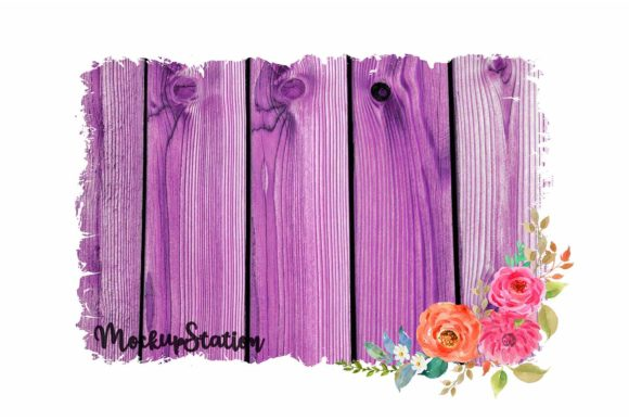 Print on Demand: Sublimation Wood Background Graphic Backgrounds By Mockup Station - Image 2