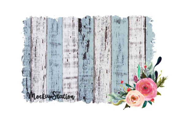 Print on Demand: Sublimation Wood Background Graphic Backgrounds By Mockup Station - Image 3