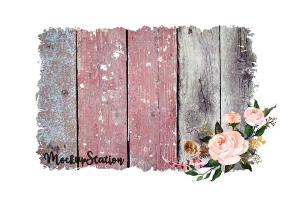 Print on Demand: Sublimation Wood Background Graphic Backgrounds By Mockup Station - Image 4