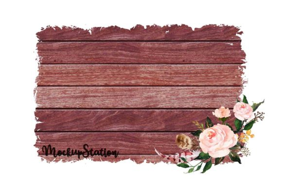 Print on Demand: Sublimation Wood Background Graphic Backgrounds By Mockup Station - Image 5