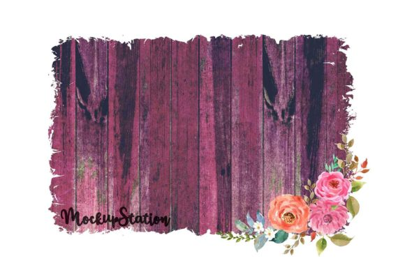 Print on Demand: Sublimation Wood Background Graphic Backgrounds By Mockup Station - Image 6