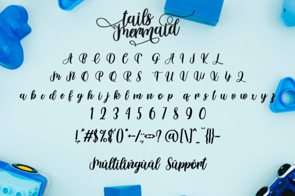 Print on Demand: Tails Mermaid Script & Handwritten Font By Fallengraphic - Image 6