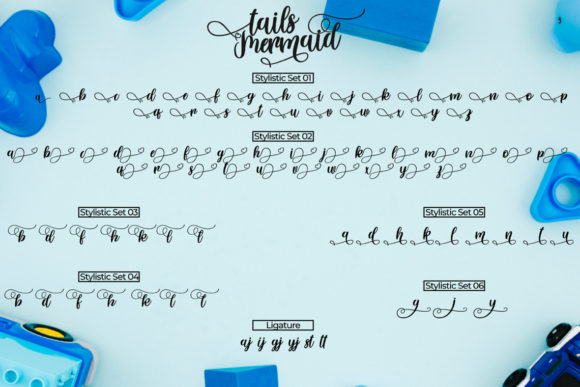 Print on Demand: Tails Mermaid Script & Handwritten Font By Fallengraphic - Image 7