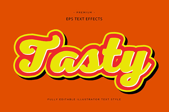 Print on Demand: Tasty 3d Text Effect Vector Graphic Graphic Templates By Riduwan Molla