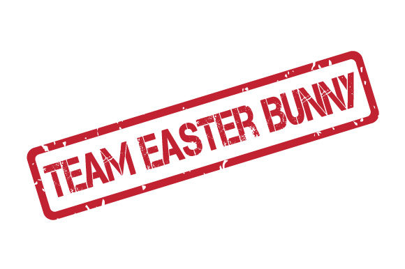 Download Free Team Easter Bunny Rubber Stamp Graphic By Graphicsfarm for Cricut Explore, Silhouette and other cutting machines.