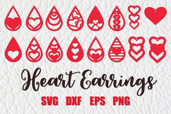 Download Free Valentines Earrings Graphic By Craft Pixel Perfect Creative for Cricut Explore, Silhouette and other cutting machines.