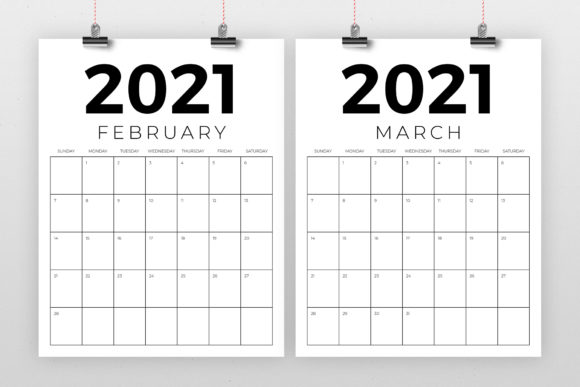 Download Free Vertical 8 5 X 11 Inch 2021 Calendar Graphic By Running With for Cricut Explore, Silhouette and other cutting machines.
