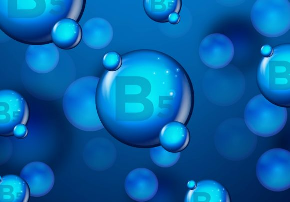 Print on Demand: Vitamin B5 Blue Shining Pill Capsule Ico Graphic Backgrounds By ojosujono96