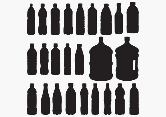 Download Free Water Bottle Silhouettes Graphic By Octopusgraphic Creative for Cricut Explore, Silhouette and other cutting machines.