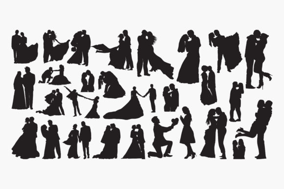 Wedding-loveSilhouettes Graphic Crafts By octopusgraphic