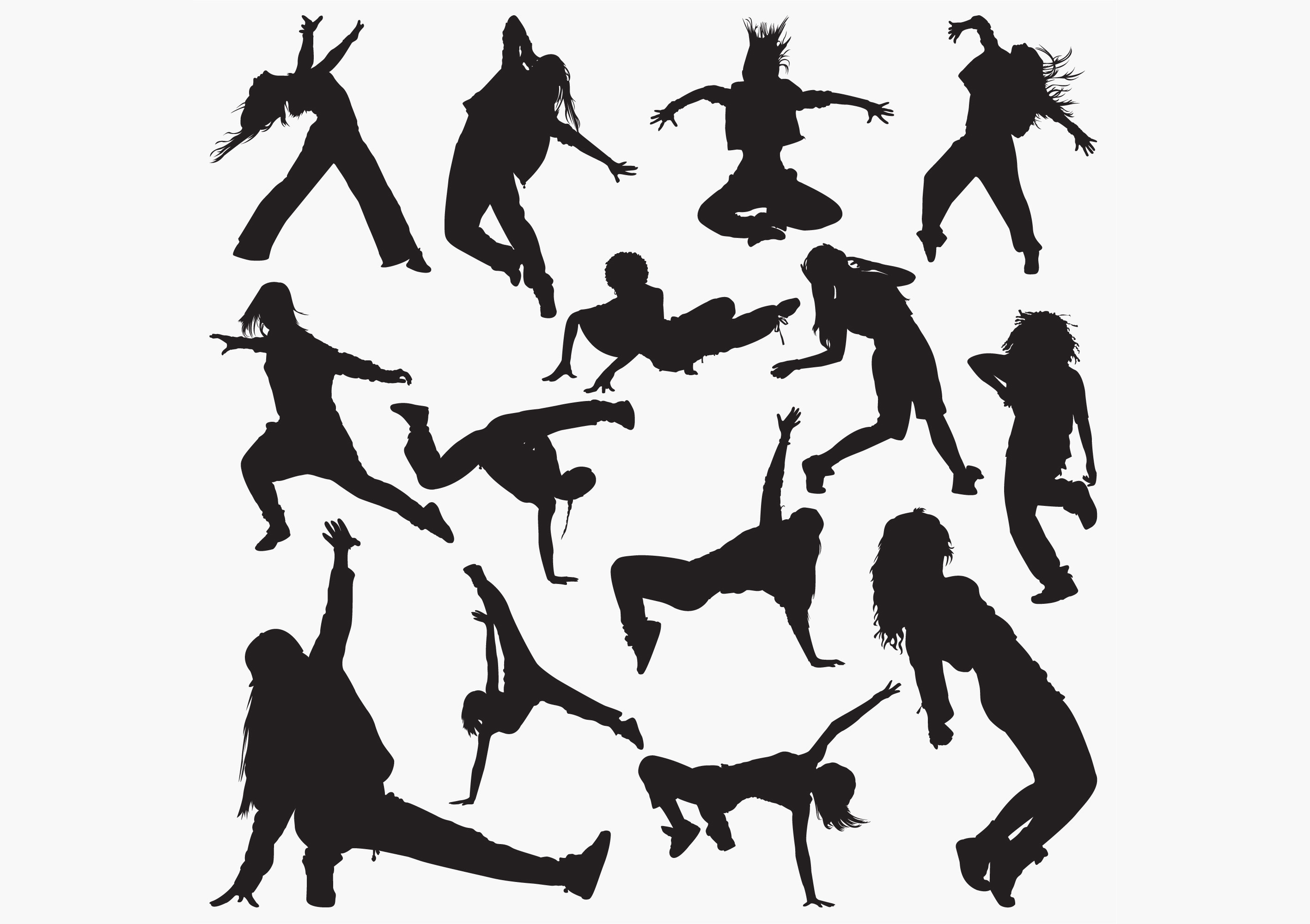 Download Free Women Street Dance Silhouettes Graphic By Octopusgraphic for Cricut Explore, Silhouette and other cutting machines.