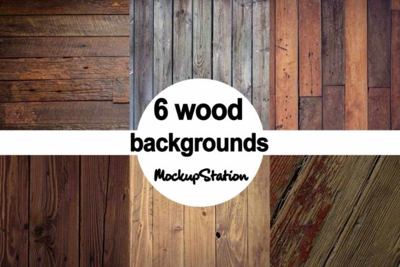 Print on Demand: Wood Background Bundle Grafik Hintegründe von Mockup Station