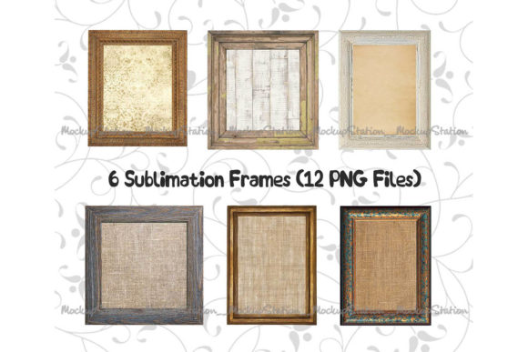 Print on Demand: Wood Frame Graphic Objects By Mockup Station - Image 1