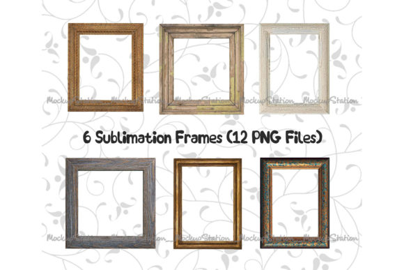 Print on Demand: Wood Frame Graphic Objects By Mockup Station - Image 2