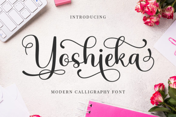 Print on Demand: Yoshieka Script & Handwritten Font By Megatype
