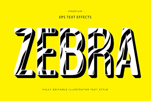 Print on Demand: Zebra 3d Text Effect Vector Graphic Graphic Templates By Riduwan Molla