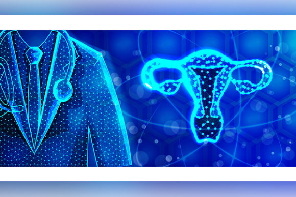 Print on Demand: Female Reproductive System. Doctor Speci Graphic Backgrounds By ojosujono96